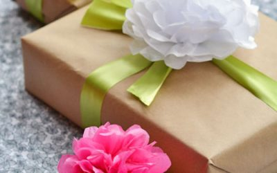 Tissue Paper Flowers For Gifts