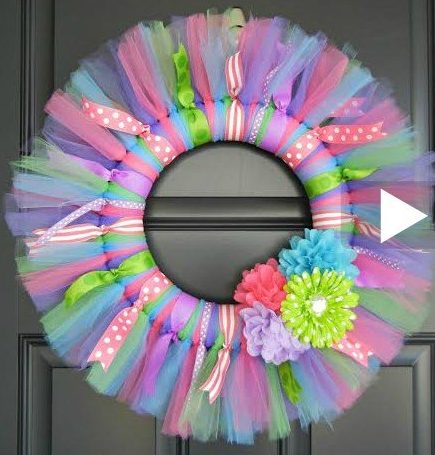 How To Make A Easter Wreath