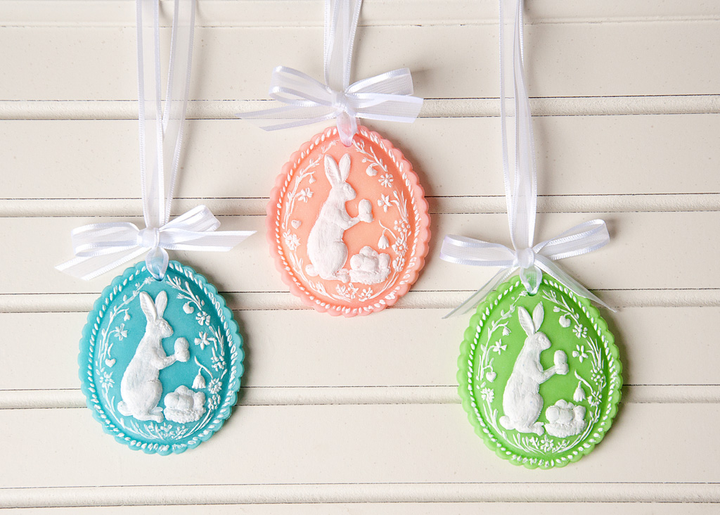 Easter Egg Clay Decorations