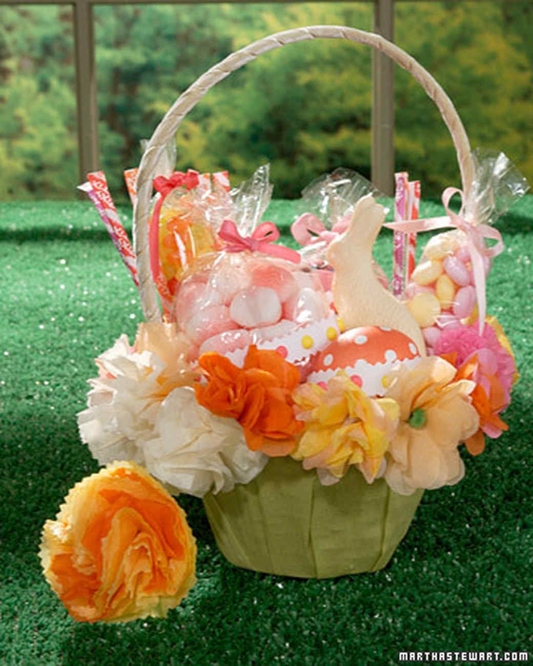 Paper Flowers For Easter Baskets
