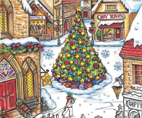 Holiday Coloring Books from Dover